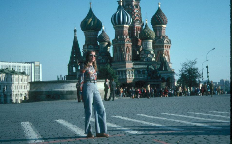 Lisa's mother in Moscow, 1976.